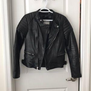 Blk Dnm leather jacket 22 medium women's